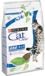 Cat Chow Adult Feline 3 in 1 With Turkey 1,5kg