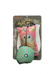 Sweet Hamster Pink 3D Cat Toy With Silvervine