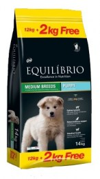 Equilibrio Puppy Medium Breeds 12kg+2kg offer